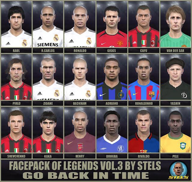 PES 2018 Legends Facepack V3 dari Stels