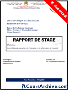 Coursarchive Rapport De Stage 2eme Année Bts Sri 2018