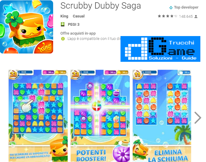 Soluzioni Scrubby Dubby Saga livello 301 302 303 304 305 306 307 308 309 310 | Trucchi e  Walkthrough level