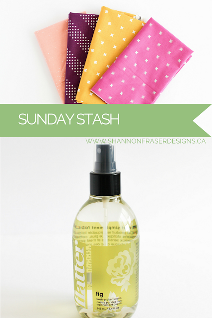 Sunday Stash - Mad About Patchwork | Shannon Fraser Designs | Modern Quilting | Quilting Fabric | Quilt Shop | Cotton + Steel | Kona Solids | Essex Linen | Flatter Smoothing Spray