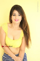 Cute Telugu Actress Shunaya Solanki High Definition Spicy Pos in Yellow Top and Skirt  0176.JPG