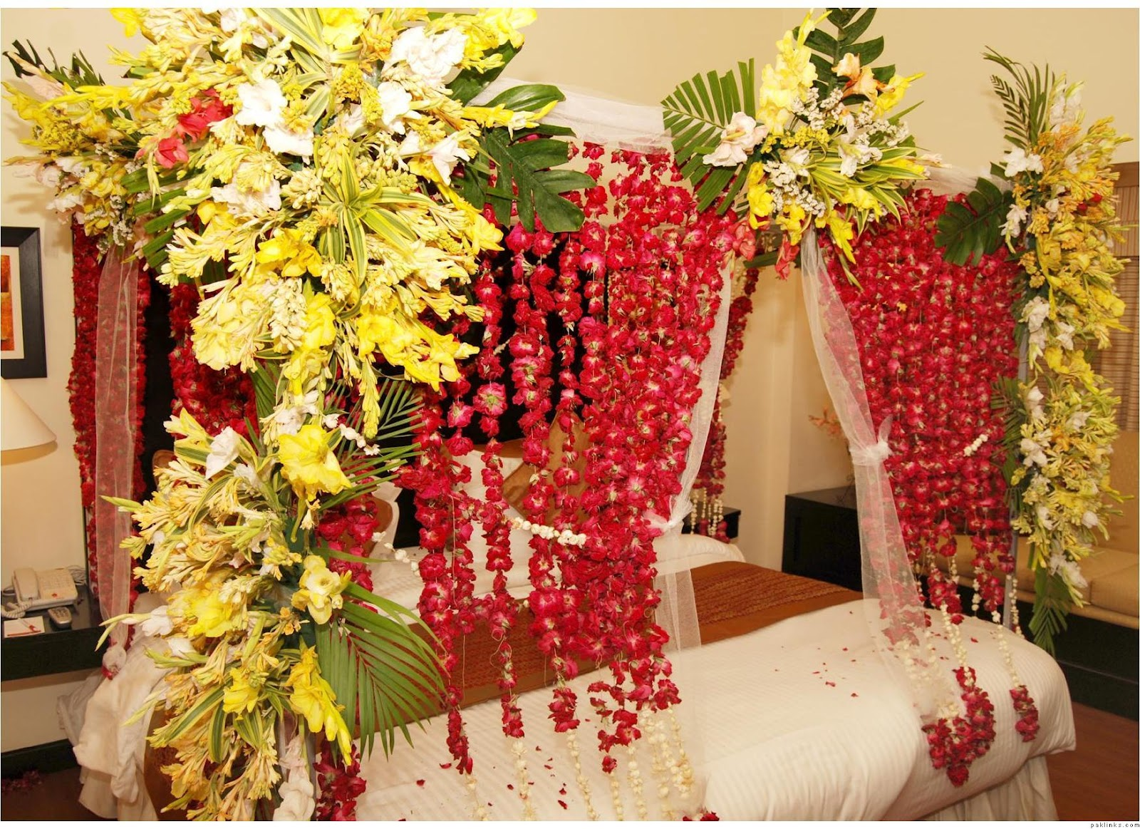 Marriage Bedroom Decoration Wedding Snaps Wedding Bed Room Decoration