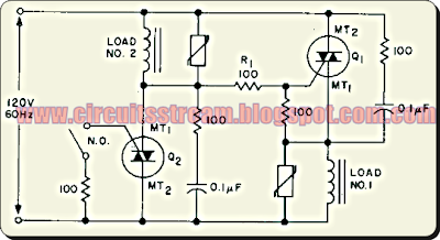 AC Static Single Pole Double Throw Switch Circuit Diagram