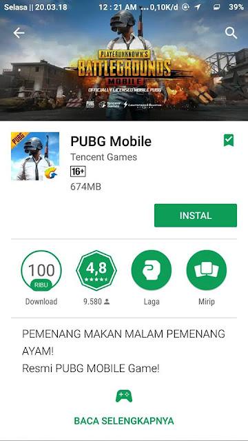 Kabar Gembira PUBG Mobile Telah Secara Resmi Hadir di Playstore