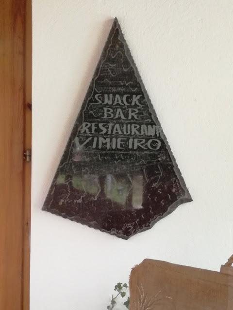 Placa Snack Bar Restaurante Vimieiro