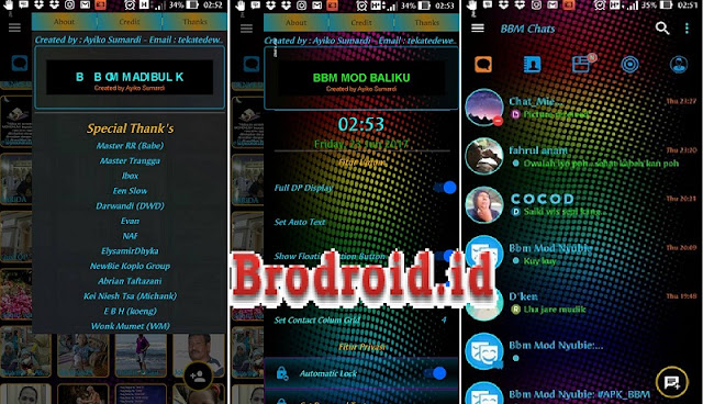 Download BBM Mod Retro Full Color Apk Clone Unclone Terbaru
