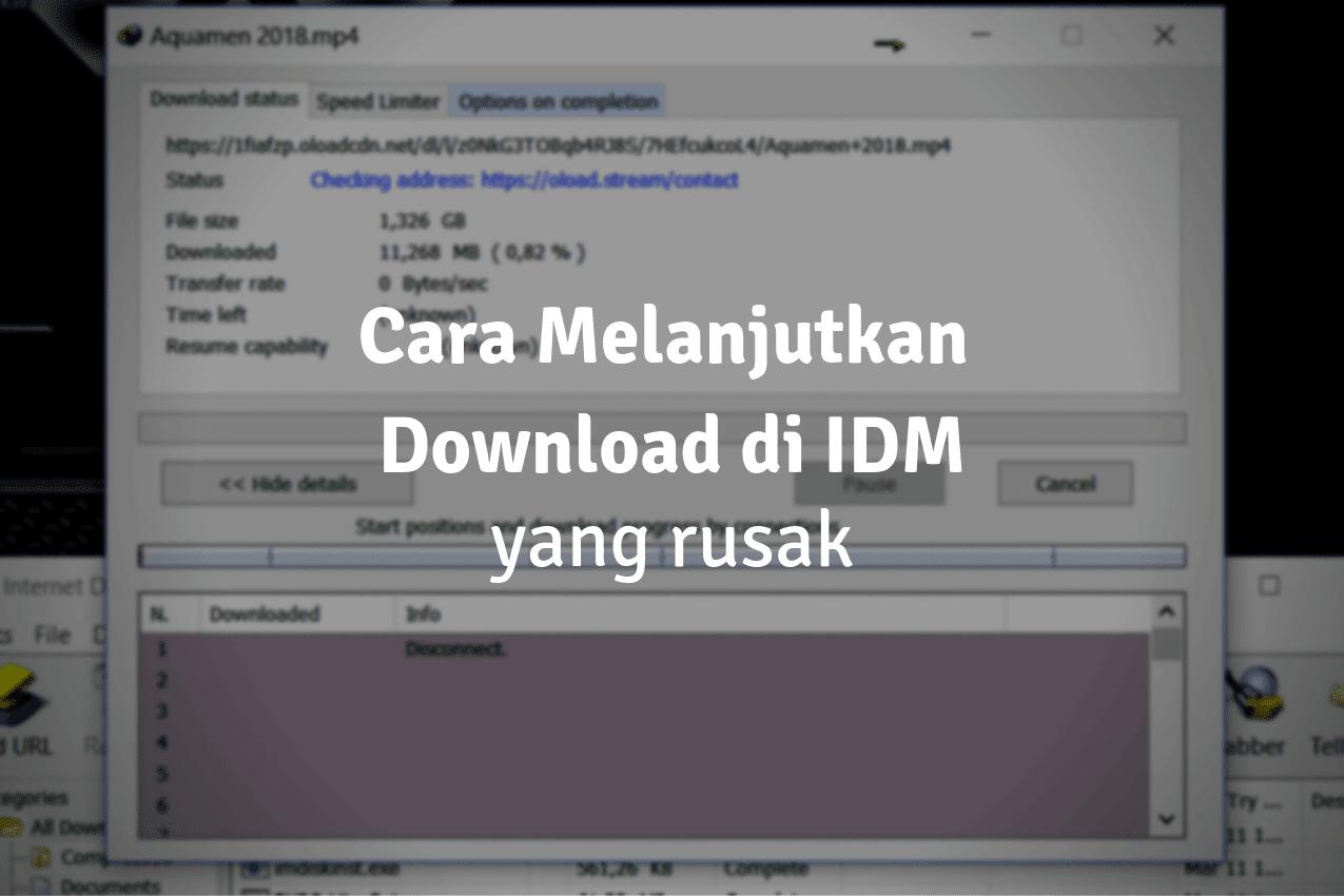 Cara Melanjutkan Download di IDM yang Error, Rusak, Expired, Terputus