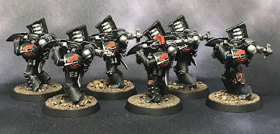 1st Legion Dark Angels Calibanite Heavy Support  Squad with missile launchers