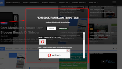 Cara Memasang Anti Ad Block Di Blog