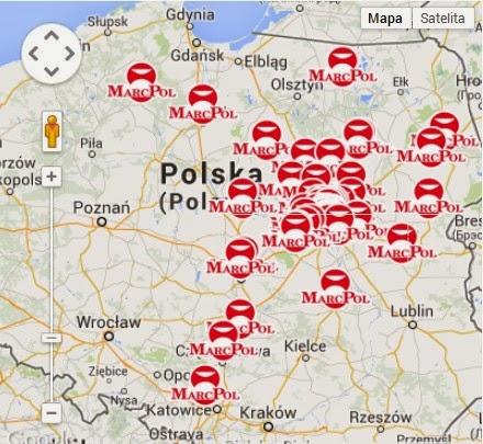 marcpol mapa sklepów