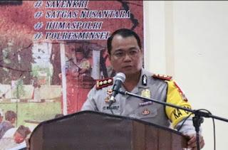 Kapolres Sampaikan Commanderwish Kapolda Sulut Dalam Rapat Anev Binops