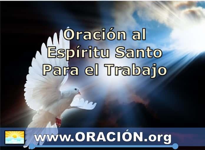 Oración al Espíritu Santo Para Conseguir y tener Trabajo