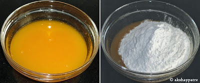 sugar powder added in the orange juice