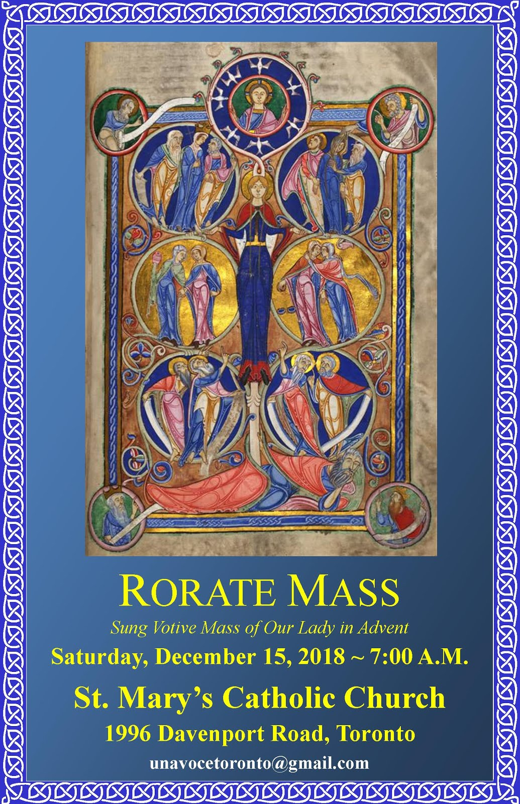 Sung Latin Rorate Mass in Toronto