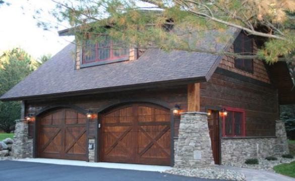 Clasic Garage Wooden Doors.