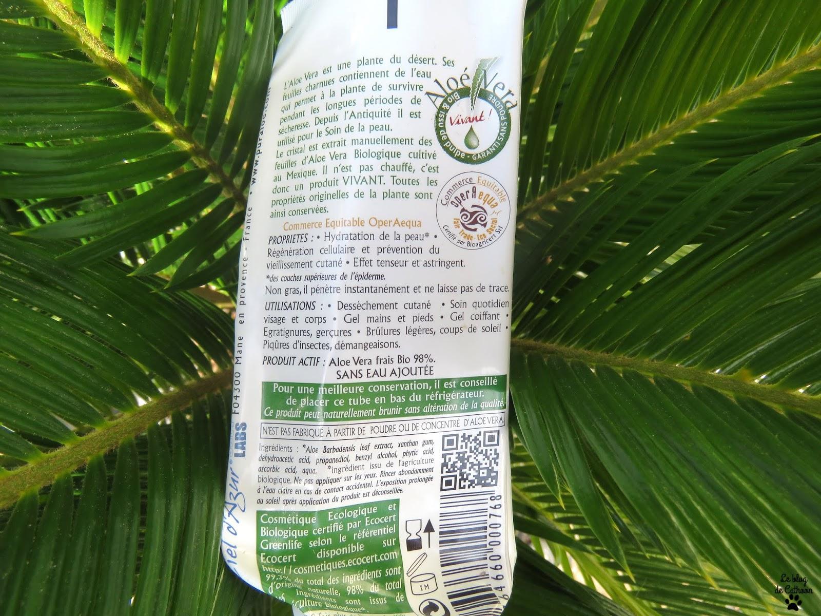 Gel 98% d'Aloe Vea Bio & Equitable - Pur Aloé