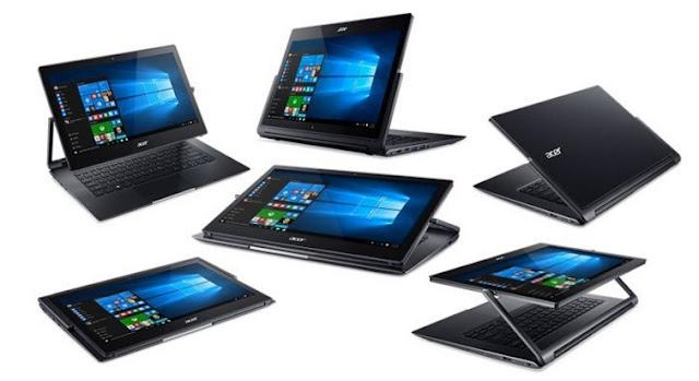 Harga Laptop Acer Aspire R13 R7-372T Tahun 2017 Lenkap Dengan Spesifikasi, Processor Intel Core i7 6500U, Notebook Hybrid 6 in 1