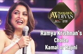 Jfw Golden Divas 2018 – Find out Ramya Krishnan's Choice Kamal or Rajini