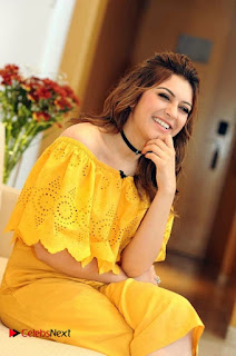 Actress Hansika Motwani Latest Stills in Yellow Dress  0003.jpg