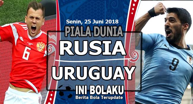Prediksi Uruguay vs Rusia 25 Juni 2018