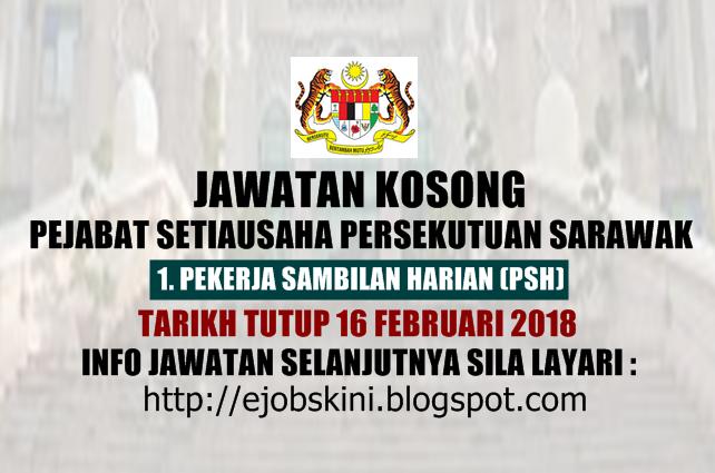 Jawatan Kosong Pejabat Setiausaha Persekutuan Sarawak 16 Februari 2018