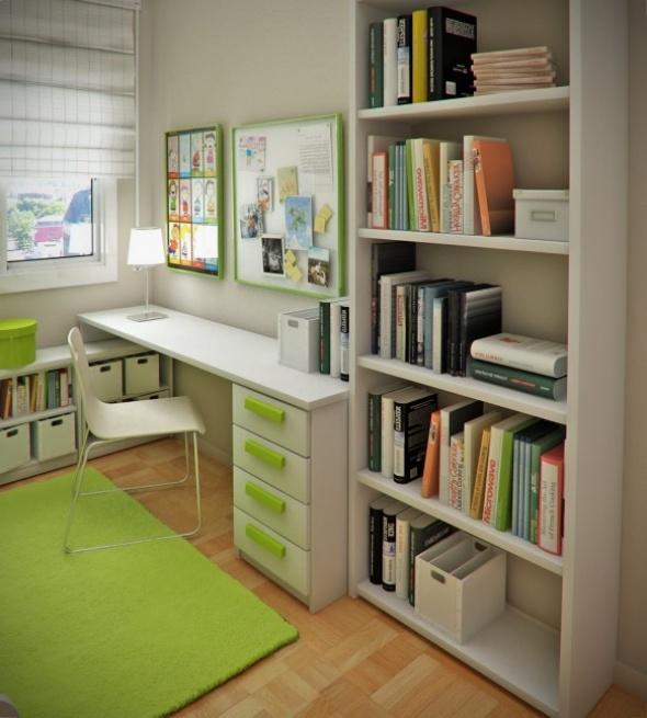 Cool Bedroom Design Ideas Small Study Room