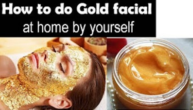 Gold Facial at home for golden glow skin | Starnaturalbeauties