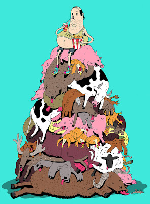 Ilustración comida chatarra