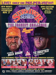 WWF / WWE SURVIVOR SERIES 1991 - Event poster