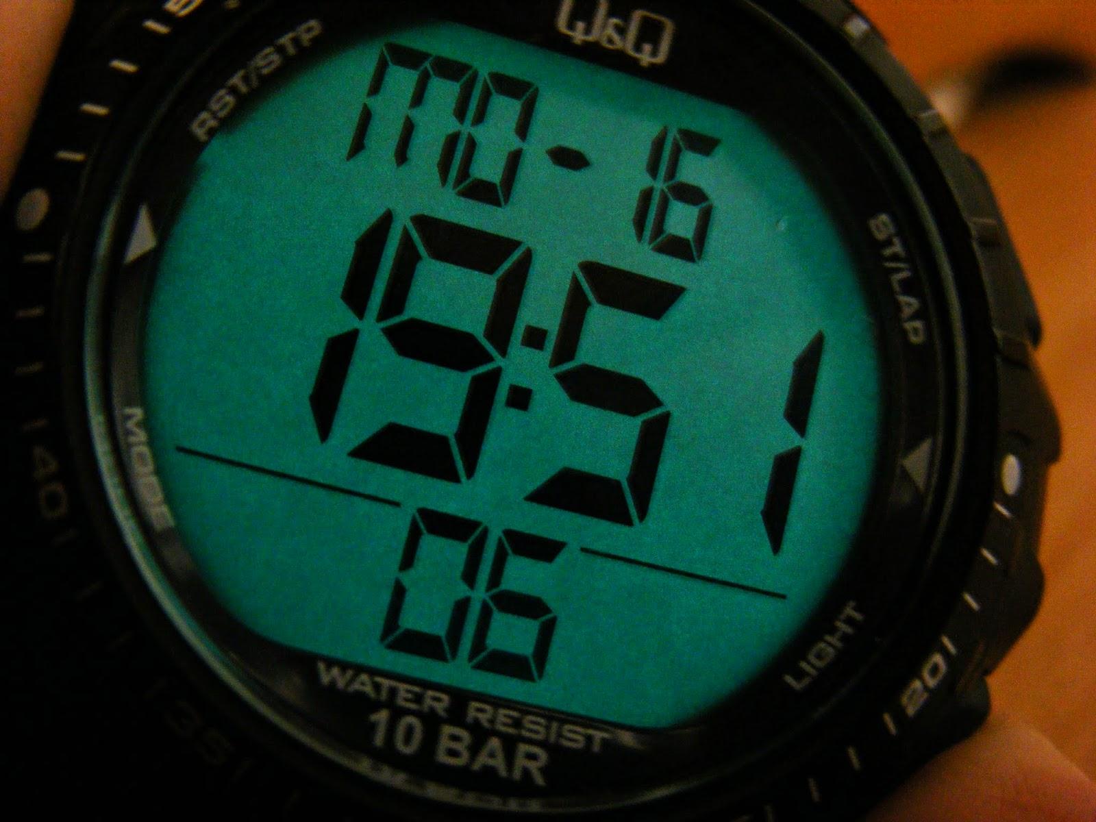 sport digital watch night mode qq running watch sports laps