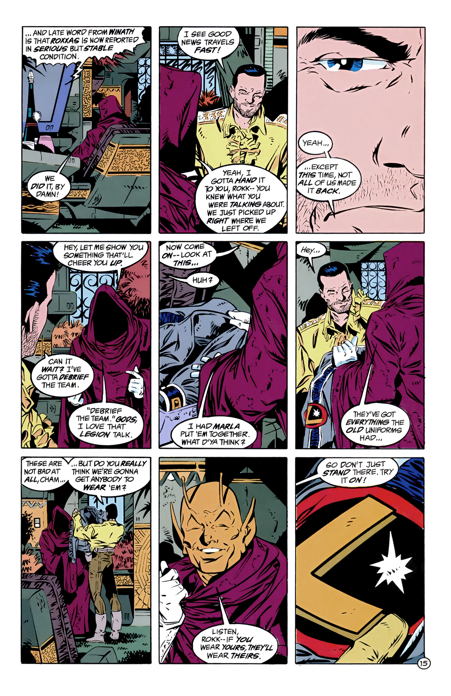 Legion of Super-Heroes (1989) 12 Page 15