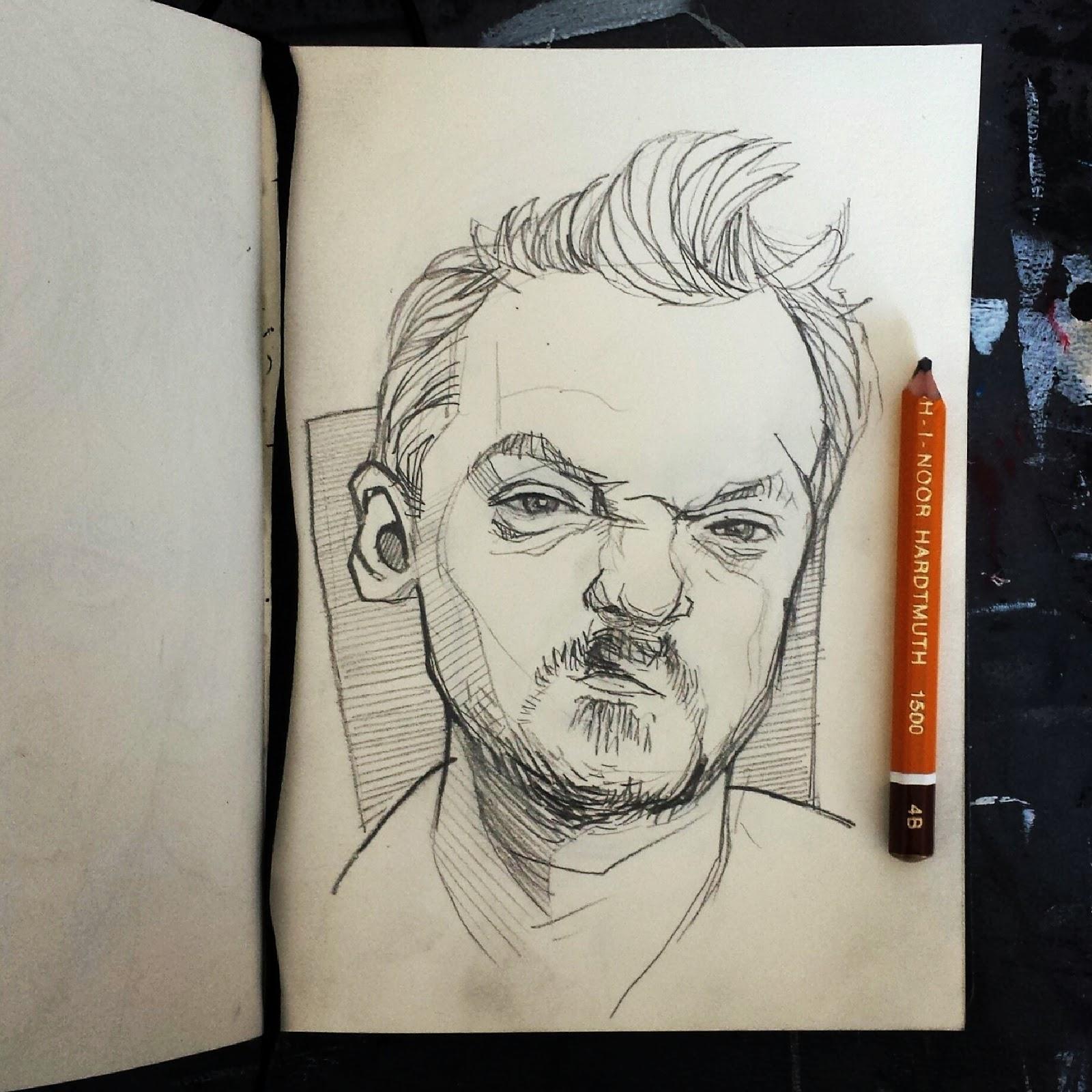 Simon Pegg Spaced Illustration