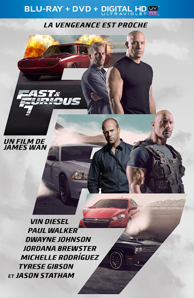 Poster of Fast and Furious 7 (2015) Extended Cut 720p Hindi BRRip Dual Audio