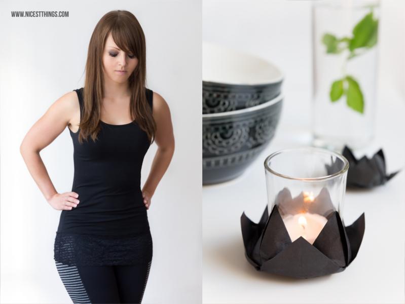 DIY Teelicht Halter aus Origami Lotusblüte
