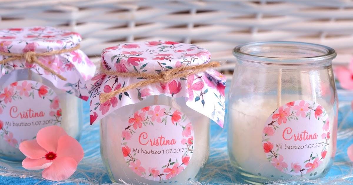 El jab n casero velas florales para detalles de bautizo - Decoracion de velas para bautizo ...