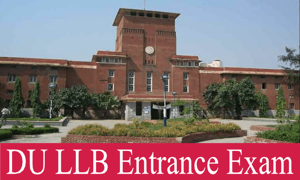 Du LLB 3 year LLB course Intrance Exam