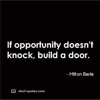 opportunity quote by milton berle