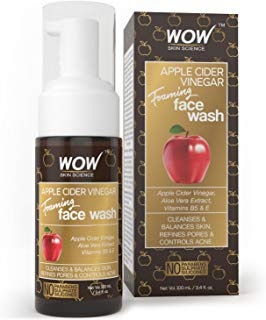 WOW Apple Cider Vinegar No Parabens, Sulphate & Silicone Foaming Face Wash