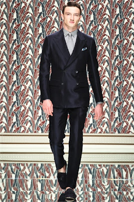 Double breasted jacket - two buttons - Zegna SS2013