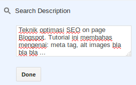 Optimasi SEO on page Blogspot