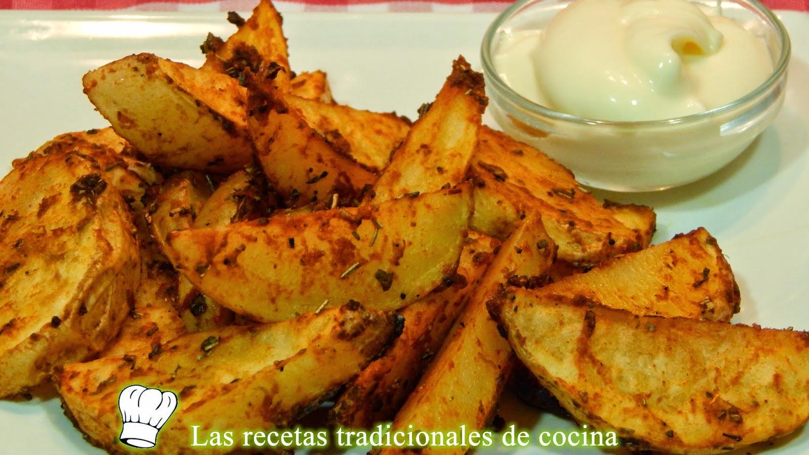 Receta de patatas al horno adobadas recetas de cocina - Patatas pequenas al horno ...