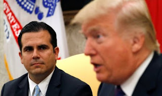 Trump meets Puerto Rico Governor Rossello at the White House in Washington (Credit: Thomson Reuters) Click to Enlarge.