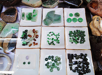What color is a Jade cabochon beside of green