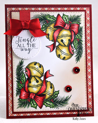 Our Daily Bread Designs Stamp Set: Jingle Bell Time, Our Daily Bread Designs Custom Dies: Double Stitched Rectangles, Double Stitched Circles, Our Daily Bread Designs Paper Collection: Holly Jolly