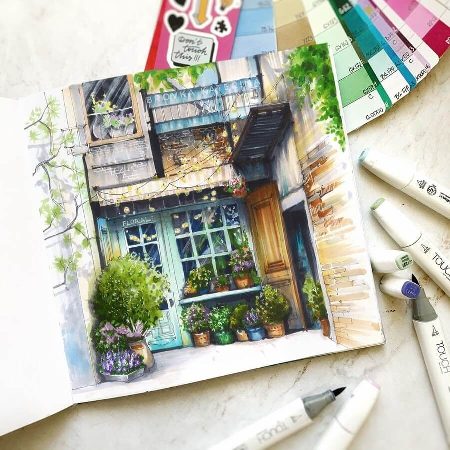 12-Flower-shop-Katerina-Brovka-www-designstack-co