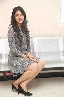 Actress Chandini Chowdary Pos in Short Dress at Howrah Bridge Movie Press Meet  0146.JPG