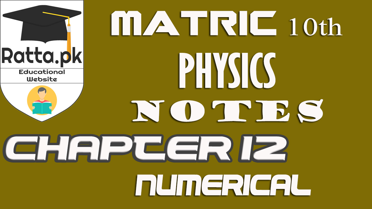 10th Physics Chapter 12 Geometrical Optics Numerical Problems
