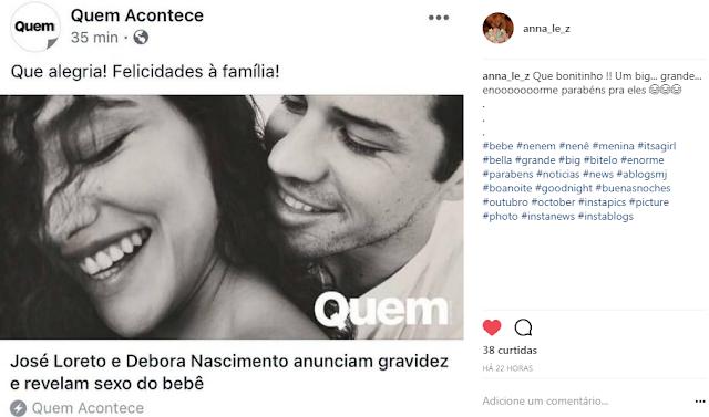 Debora Nascimento Gravida Jose Loreto