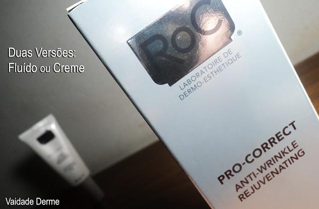 Roc Pro Correct Creme e Fluído Antirrugas