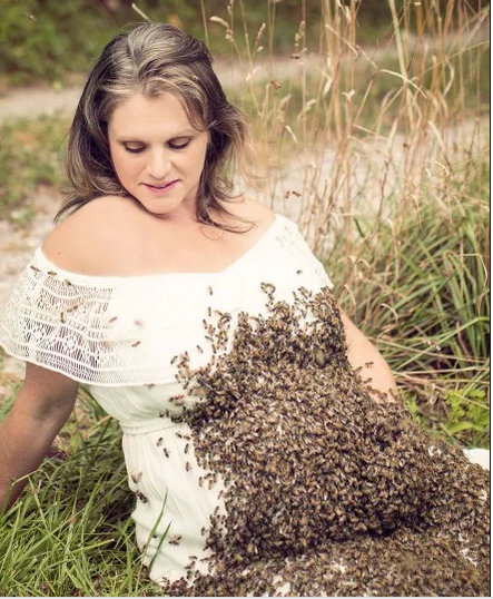 Woman who posed with bees during maternity shoot suffers stillbirth